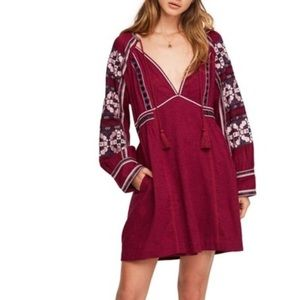 Burgundy Free People Dress